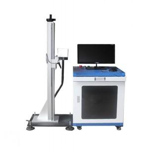 Flying Online Metal Fiber Laser Marking Machine with Conveyer Table