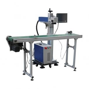 Flying Online Fiber Laser Marking Machine with Conveyer Table